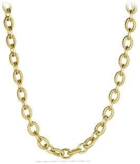 David Yurman Oval Large Link Necklace in Gold
