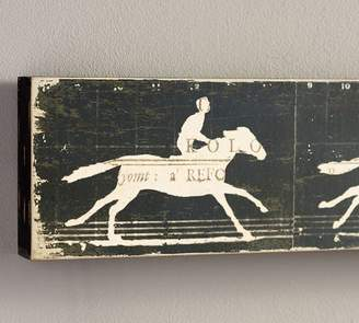 Pottery Barn Horse Zoetrope Wood Wall Art