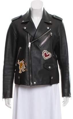 Keith Haring Coach 1941 x Leather Moto Jacket