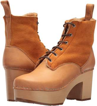 Swedish Hasbeens Hippie Lace-Up Women's Boots