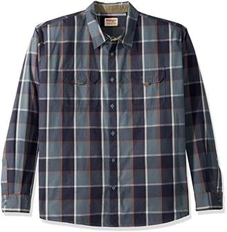 Wrangler Authentics Men's Big & Tall Long Sleeve Canvas Shirt