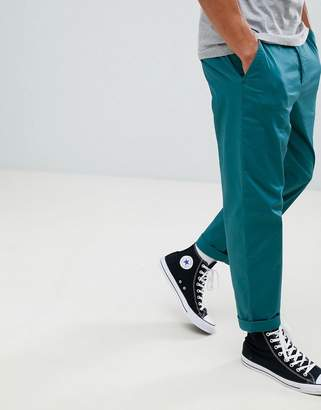 Asos DESIGN relaxed chinos in teal