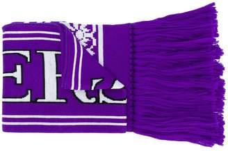 Versace intarsia-knit scarf