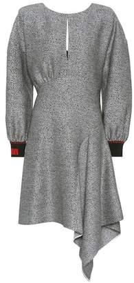 Fendi Asymmetric wool and silk dress