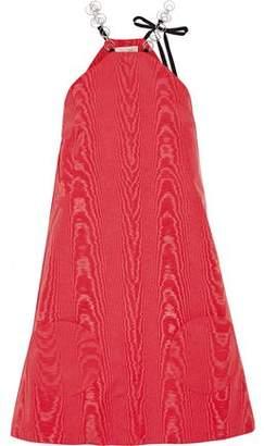 Isa Arfen Knotted Satin Mini Dress