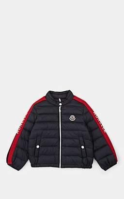 ef43db4e14c5 Moncler Kids  Logo-Striped Down Puffer Coat - Blue