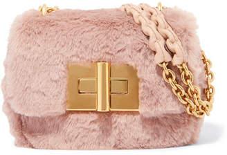 Tom Ford Natalia Mini Faux Fur Shoulder Bag - Pink