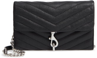 Rebecca Minkoff Edie Quilted Leather Crossbody Wallet