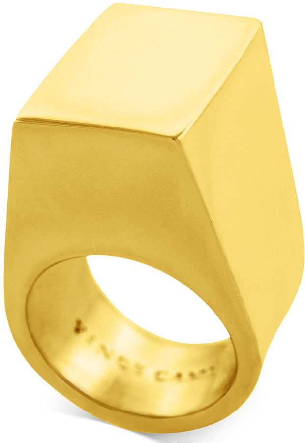Vince Camuto Ring, Gold-Tone Geometric Cocktail Ring