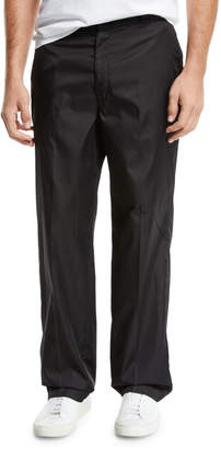 Prada Men's Relaxed Coated Pants