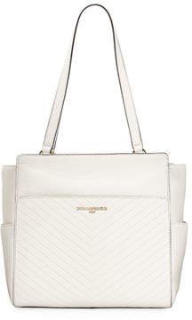 Karl Lagerfeld Paris Charlotte Quilted Leather Shoulder Tote Bag