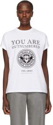 Balmain White Outnumbered T-Shirt