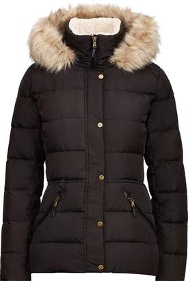 Ralph Lauren Faux-Fur-Trim Down Coat
