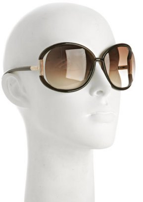 Tom Ford brown 'Olivia' oversized sunglasses