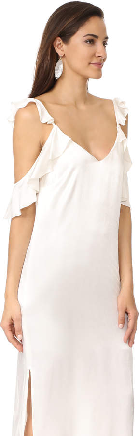 WAYF Costa Ruffle Cold Shoulder Slip Dress 2