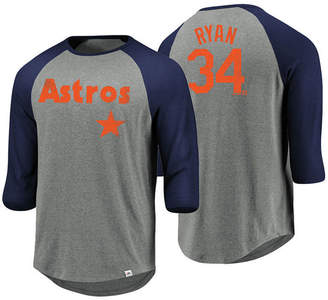 Majestic Men Nolan Ryan Houston Astros So Much Extra Player Raglan T-Shirt