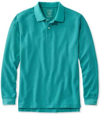 L.L. Bean L.L.Bean Premium Double L Polo, Long-Sleeve Without Pocket