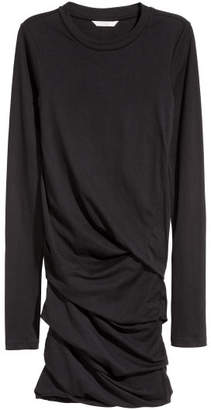 H&M Draped Jersey Dress - Black