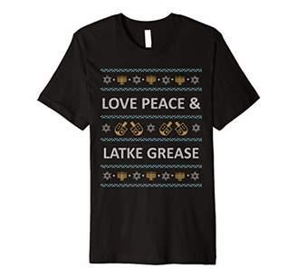 Funny Ugly Christmas Hanukkah Love Latke Grease T-Shirt