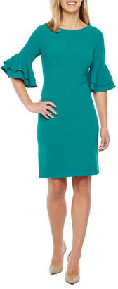 Liz Claiborne 3/4 Tiered Sleeve Sheath Dress