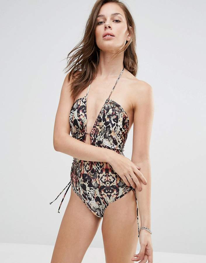 MinkPink Animal Print One Piece Suit