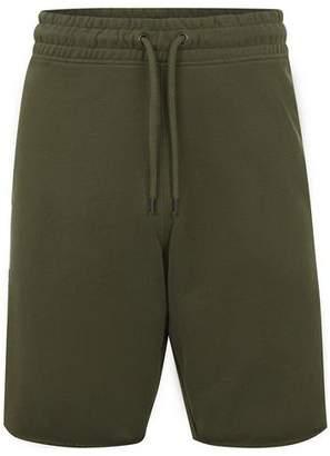 Topman Mens Khaki Raw Hem Jersey Shorts