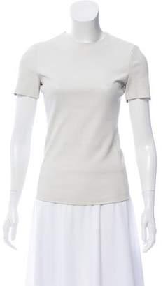 Celine Leather Short Sleeve Top