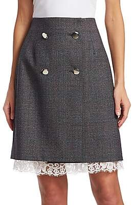 Calvin Klein Women's Fancy Glen Check Wool Skirt