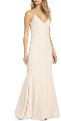 LuLu*s V-Neck Trumpet Gown