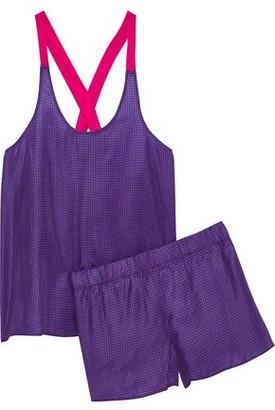 Three J NYC Chloe Polka-Dot Silk Pajama Set