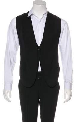 Helmut Lang Wool One-Button Vest