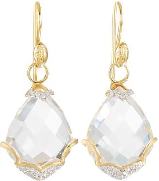 Jude Frances Lisse 18K Diamond & Topaz Dangle Drop Earrings
