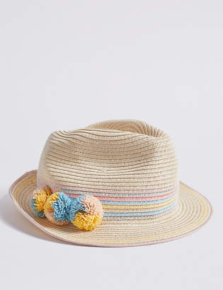 Marks and Spencer Kids Trilby Hat with Sun Smart UPF50+ (6 Months -14 Years)