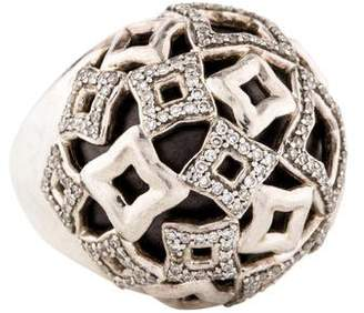 David Yurman Diamond Quatrefoil Dome Ring