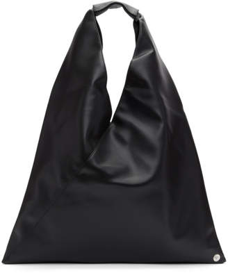 MM6 MAISON MARGIELA Black Small Faux-Leather Tote