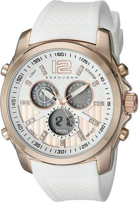 Sean John Men's 10025696 Sport Analog-Digital Display Analog Quartz White Watch