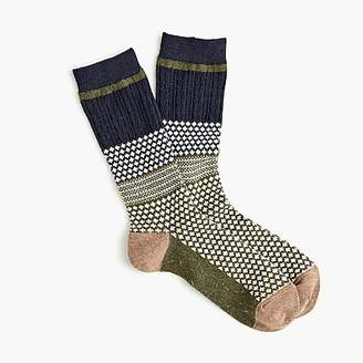 J.Crew Anonymous IsmTM moss navy crew socks