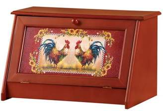 Collections Etc. Collections Etc Sunflower Rooster Bread Storage Container Box for Kitchen
