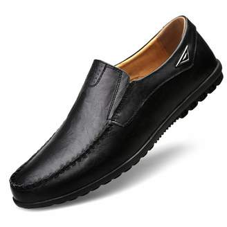 1562fa9baeda3 Carol Chambers Genuine Leather Mens Moccasin Shoes Men Flats Breathable  Casual Loafers Comfortable Driving Shoes 12