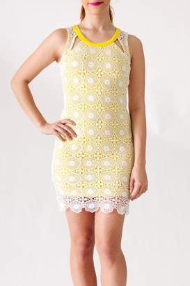 Yellow Lace Overlay Dress - ShopStyle UK 2d96d8a1c