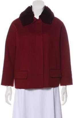 Loro Piana Chinchilla-Trimmed Button-Up Jacket
