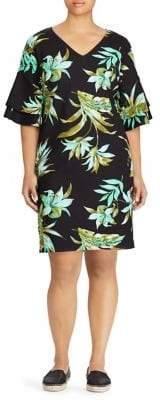 Lauren Ralph Lauren Plus Printed Tiered-Sleeve Dress
