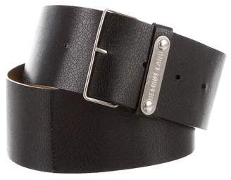 Helmut Lang Leather Buckle Belt