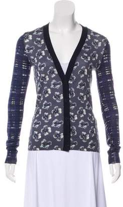 Tory Burch Printed Wool Cardigan