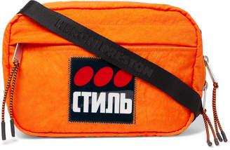 Heron Preston Logo-Appliqued Shell Camera Bag - Men - Orange