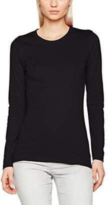 Trigema Women's 502501 Slim Fit Crew Neck Long Sleeve Longsleeve T - Shirt - Black