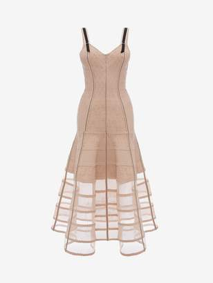 Alexander McQueen Bustier Midi Knit Dress