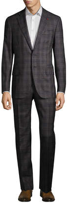 Isaia Checkered Wool Suit