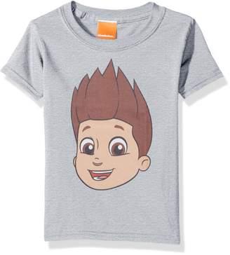 Nickelodeon Toddler Kids Paw Patrol Ryder Big Face Tee, Heather Gray