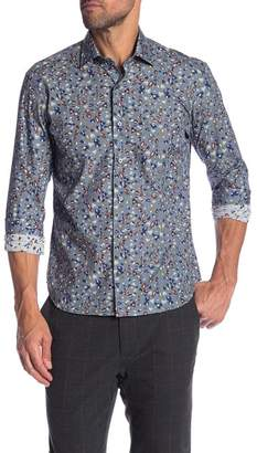 Culturata Abstract Print Contemporary Fit Shirt